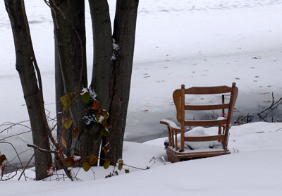 Chair in snow 2007